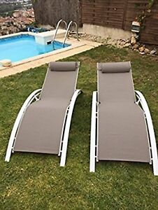 Kozyard KozyLounge ElegantOutdoor Patio Reclining Adjustable Chaise Lounge 2 PK