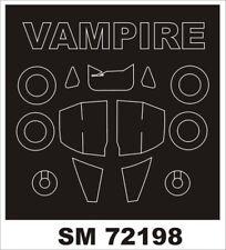 Montex Mini Mask 1:72 Vampire T-11 for Airfix Kit Spraying Stencil #SM72198