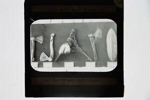 Maori Weapons By Josiah Martin New Zealand - Glass Lantern Slide #2