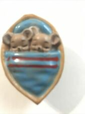 Vintage Josef Original Figurine Sleeping Mice In Nut Shell Original Sticker
