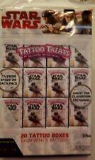 Disney Star Wars Tattoo Treats Valentine 20 Tattoo Treat boxes w/ 5 tattoos New