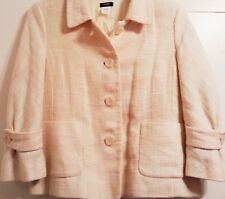 J.CREW Ivory Cotton/Linen, Lined, Button/Pocket, Career, Waverly Jacket SIZE 12