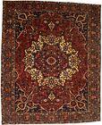 Vintage Red Traditional Floral 10X13 Floral Medallion Oriental Rug Decor Carpet