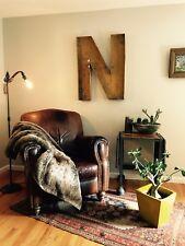 "Large Antique Neon Metal Letter ""N"""