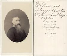 Naples, envoi à identifier CDV vintage albumen,  Tirage albuminé  6,5x10,5