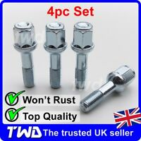 MERCEDES E CLASS W124 85-93 TAPERED ALLOY WHEEL LOCKING BOLTS M12 X 1.5 25MM