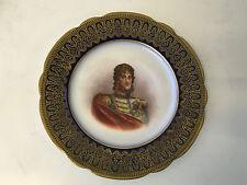 Antique French Sevres Porcelain Portrait Cabinet Plate Prince Joachim Murat