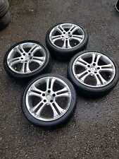 "1000 MILLE MIGILA 17"" STAGGERED ALLOY WHEELS 5X114.3 RARE 7J 8J HONDA MAZDA"