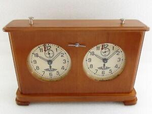 Jantar Amber OChZ Vintage USSR Russian Tournament Wooden Chess Clock SERVICED