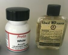2 Angelus White Acrylic Leather Paint / Edwal NO Scratch  E1