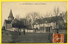 cpa 50 - LES PIEUX en 1917 (Manche) L'ÉGLISE et le PRESBYTÈRE de Millot à Charpy