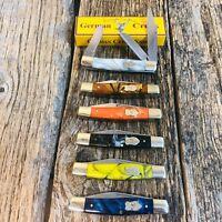 "GERMAN CREEK 3 3/4"" Stockman Pocket Knife Three Blade Brand New // Pick Color"