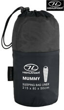 Highlander Universal Mummy Travel Compact Sleeping Bag Liner Camping Hiking New