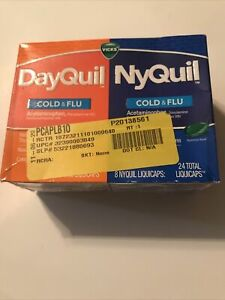 Vicks DayQuil and NyQuil Cold and Flu Relief Liquicaps - 24 Count Exp 3/23
