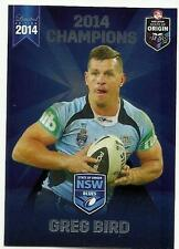 2014 ESP NRL STATE OF ORIGIN NSW BLUES TITANS GREG BIRD SOO3 CARD