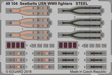 Eduard PE 49104 1/48 Seatbelts USN WWII fighters STEEL