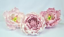 "set extra large, 5 "" x3 sugar paste peony, handmade, wedding,edible, anniversary"
