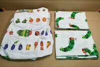 Eric Carle The Very Hungry Caterpillar Crib Fitted Sheet & 2 Window Valances