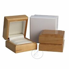 Ring Box Maple Wood Wooden Luxury Jewellery Gift Ring Box