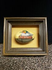 """Rare Vintage Hand Painted Frame Goose, Duck, Egg ' The Decoy' Signed Searcy 3.5"""""""