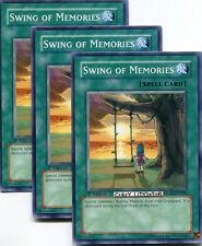 3 X YU-GI-OH SWING OF MEMORIES 1ST ED COMMON MINT GLAS-EN046