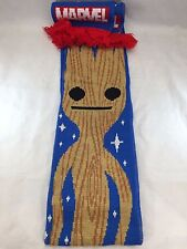 Marvel Collector Corps Guardians of the Galaxy Knitted Scarf Groot Red & Blue