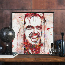 jack nicholson the shining painting print Halloween Pop Horror Picture Canvas