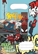 Ultimate SPIDERMAN-per ragazzi-Supereroe-Childrens partito/Loot Bags (6 per confezione)