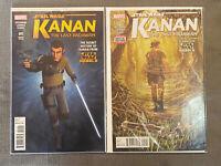 Star Wars Kanan Last Padawan 1 1:15 Rebels Variant & #2 1st & 2nd App Ezra Wren