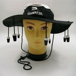 """Guinness Products - Australian with painted Wooden Corks 14"""" Dia. Cricket hat E4"""