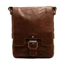 Ashwood - Small Tan Crumble Leather Kingston Messenger Flight Bag