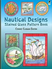 Nautical Designs Stained Glass Pattern Book, Seashells, Boats, Dolphins, more...