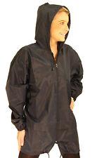 Brand New Mac Raincoat Kagoule Rain Jacket Hooded Full Zip Navy Blue