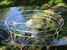 """Vintage Wrought Iron Patio/Dining Room Table  Patio Table,  Glass top 71""""x41"""""""