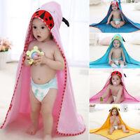Soft Cotton Cute Animal Baby Kids Sleep Bath Hooded Towel Toddler Wrap Bathrobes