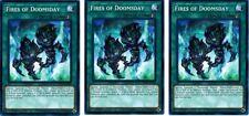 3 x Fires of Doomsday  SDPL-EN028 Common  1st Ed  YuGiOh Cards