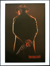 UNFORGIVEN 1992 FILM MOVIE POSTER PAGE . CLINT EASTWOOD GENE HACKMAN . N61