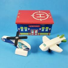 Thomas & Friends Wooden Railway Compatible Airport Building Helicopter Jet Plane