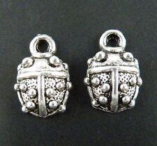 120pcs Tibetan Silver Ladybug Charms Jewelry DIY 15x10x4mm 215