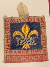 1947 World Jamboree Rare Delegate Patch Bourgogne Sub-camp