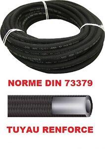 TUYAU DURITE CARBURANT RENFORCE 7mm x 12mm GASOIL DIESEL ESSENCE TRESSE 73379