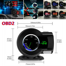 Car OBD2 Multi-function Gauge HUD Head-Up 6 Kinds Display Boost Data Scan Tool