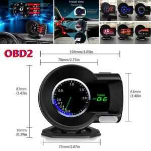 Car OBD2 Multi-function Gauge HUD Head-Up 6 Kinds Display Boost Data Scan Tool