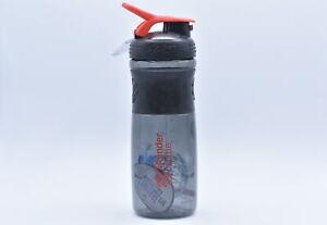 Sundesa 28 oz Blender Bottle Sport Mixer w/ Blender Ball, Black / Red