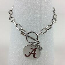 Alabama Crimson Tide Logo Charm Bracelet Annaleece by DeVries Fashion Jewelry
