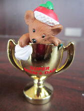 GIBSON Super Mom & Dad MOUSE In TROPHY CHRISTMAS ORNAMENT NEW In BOX