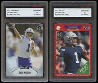 ZACH WILSON 2021 PRO SET + LEAF DRAFT 1ST GRADED 10 ROOKIE CARD RC LOT OF 2 BYU