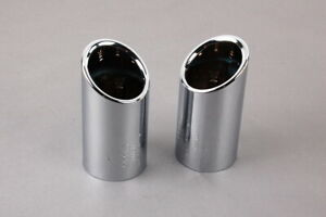Genuine AUDI A4 08-16 A5 10-16 A6 11-14 Exhaust Tail Pipes Tips Chrome 8K0071761
