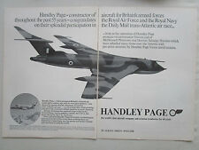 5/1969 PUB HANDLEY PAGE VICTOR V BOMBER TANKER JETSTREAM ORIGINAL AD