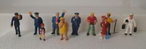 Plasticville Or Similar O S Soft Figures With Pins On Feet #2